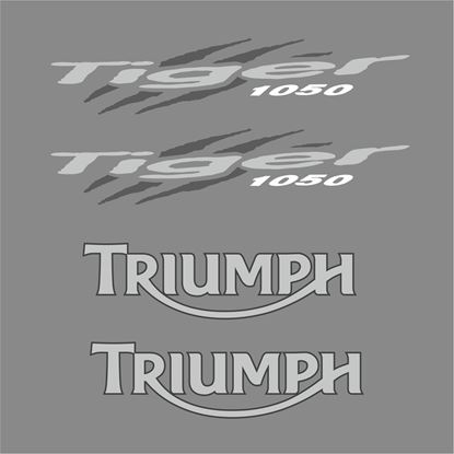 Picture of Triumph Tiger 1050 (Yellow Bike) 2007 - 13 replacement Decals / Stickers - copy