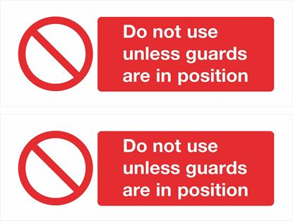 Picture of Do not use unless guards are in position Decals / Stickers