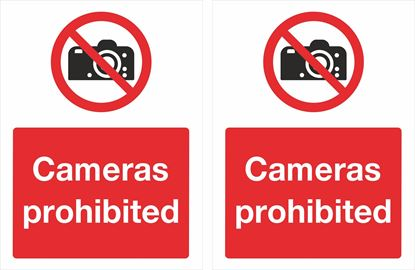 Picture of Cameras prohibited Decals / Stickers