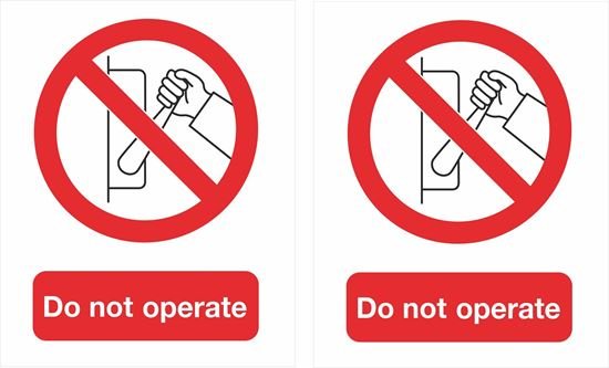 Picture of do not operate Decals / Stickers