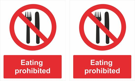 Picture of Eating prohibited Decals / Stickers