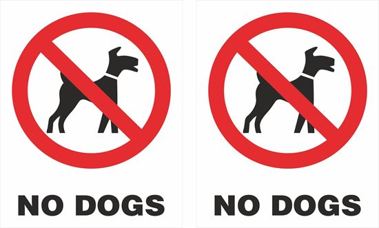 Picture of No Dogs Decals / Stickers