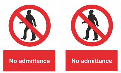 Picture of No admittance Decals / Stickers