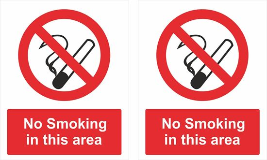 Picture of No Smoking in this area Decals / Stickers