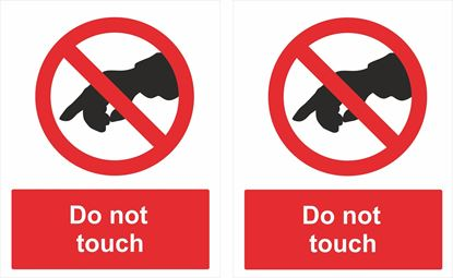 Picture of Do not touch Decals / Stickers