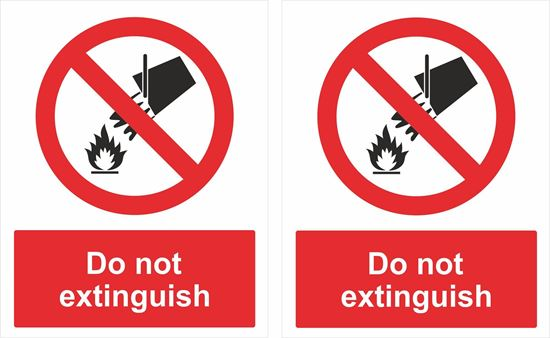 Picture of Do not extinguish Decals / Stickers