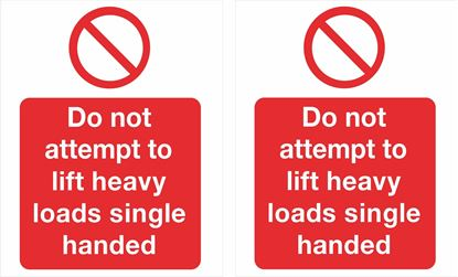 Picture of Do not attempt to lift... Decals / Stickers
