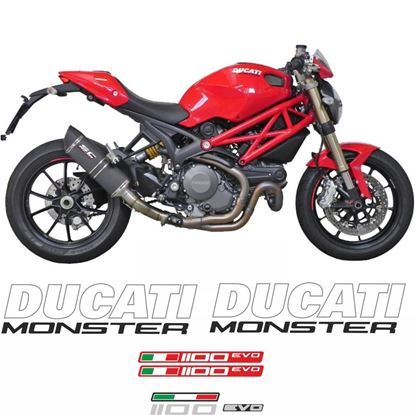 Picture of Ducati Monster 1100 Evo 2011 - 2013 replacement Decals / Stickers