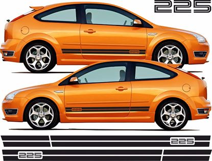 """Picture of Ford Focus ST MK2 3 Door  """"225"""" side Stripes / Stickers"""