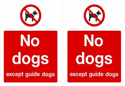Picture of No dogs except guide dogs Decals / Stickers