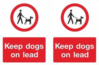 Picture of Keep dogs on lead Decals / Stickers