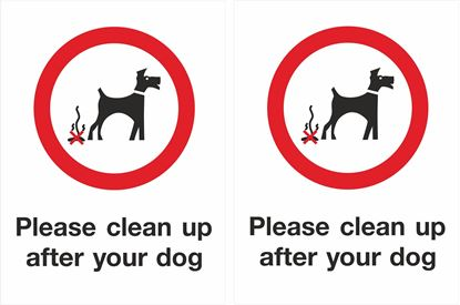 Picture of Please clean up after your dog Decals / Stickers
