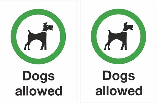 Picture of Dogs allowed Decals / Stickers