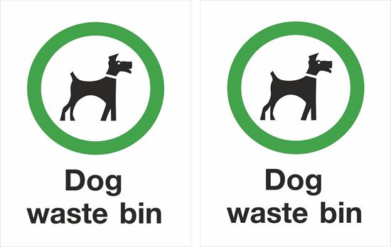 Picture of Dogs waste bin Decals / Stickers