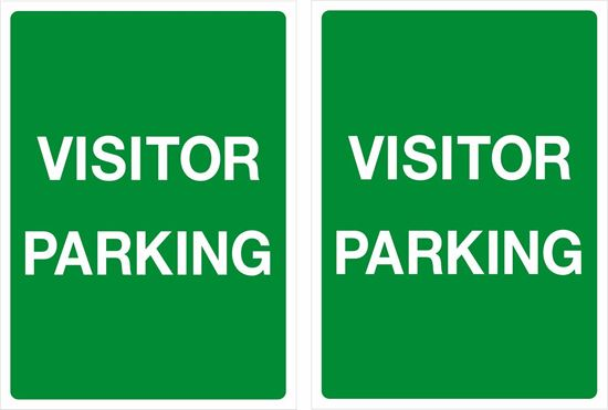 Picture of Visitor Parking only Decals / Stickers