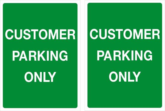 Picture of Customer Parking only Decals / Stickers
