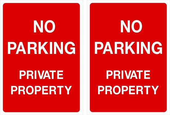 Picture of No Parking private property Decals / Stickers