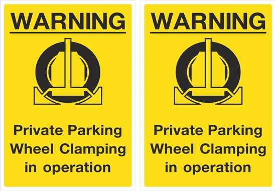 Picture of Private Parking Wheel Clamping... Decals / Stickers