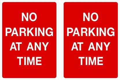 Picture of No parking at any time Decals / Stickers