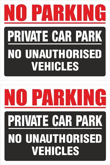 Picture of No Parking private car park... Decals / Stickers
