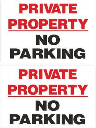 Picture of Private property no parking Decals / Stickers