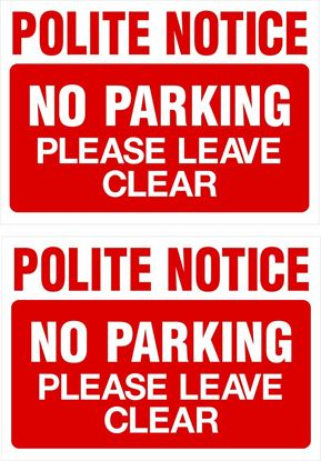 Picture of No parking please leave clear Decals / Stickers