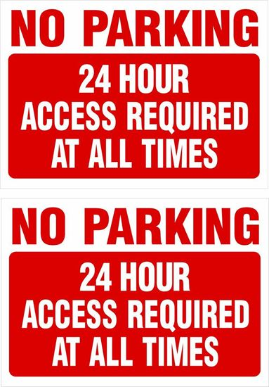 Picture of 24 hour access required at all times Decals / Stickers
