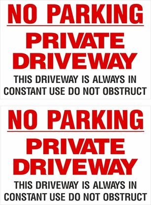 Picture of No parking private driveway... Decals / Stickers