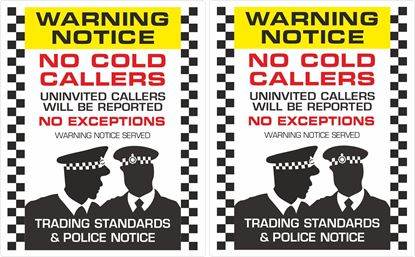 Picture of No Cold Callers Decals / Stickers