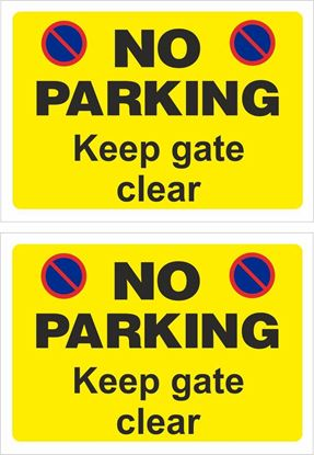 Picture of No parking keep gate clear Decals / Stickers