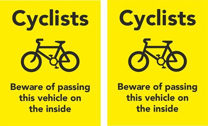 Picture of Cyclists Beware of passing.. Decals / Stickers