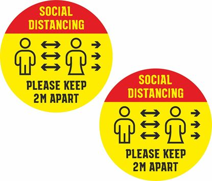 Picture of Social Distancing Decals / Stickers
