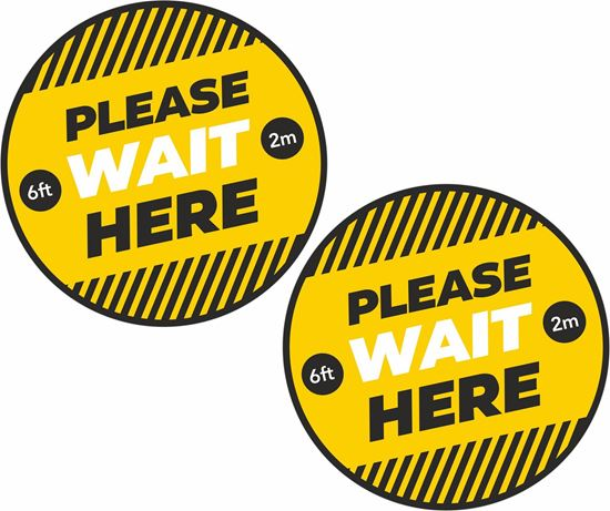 Picture of Please wait here Decals / Stickers