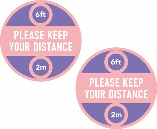 Picture of Please keep your distance Decals / Stickers