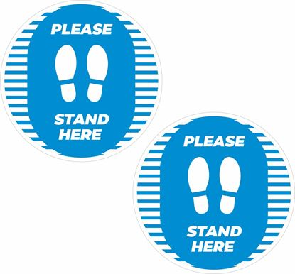 Picture of Please stand here Decals / Stickers