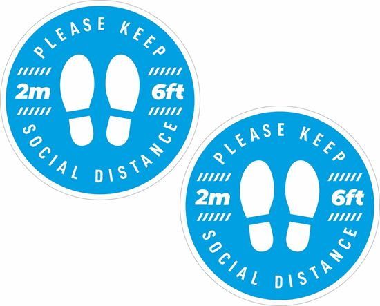 Picture of Please keep Social Distance  Decals / Stickers