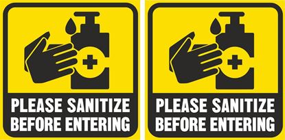 Picture of Please Sanitize before entering Decals / Stickers