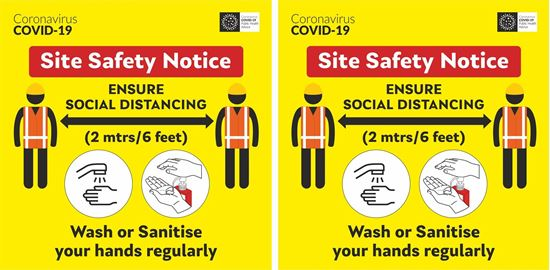 Picture of Site safety notice Decals / Stickers
