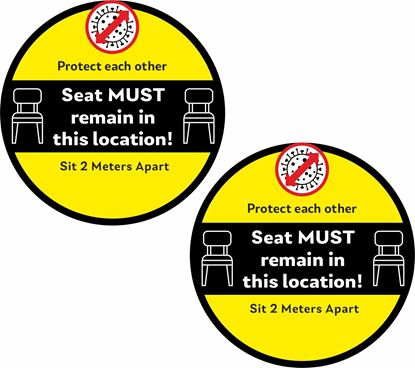 Picture of Seat must remain in this location! Decals / Stickers