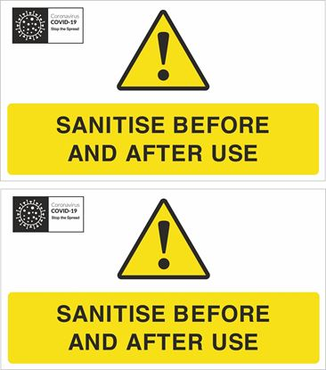 Picture of Sanitise before and after use Decals / Stickers