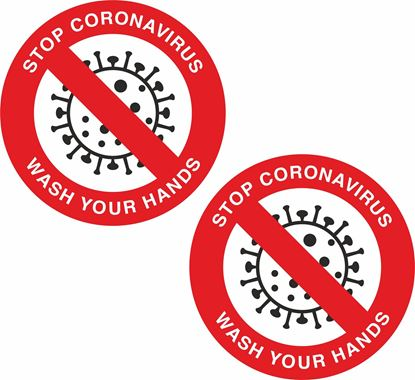 Picture of Stop Coronavirus wash your hands Decals / Stickers