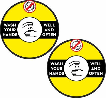 Picture of Wash your hands well and often Decals / Stickers