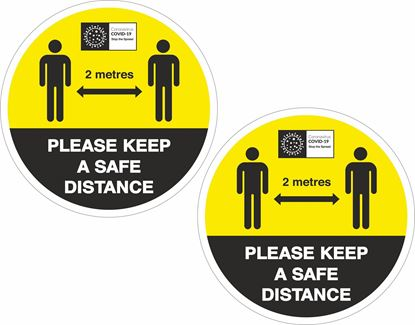 Picture of Please keep a safe distance Decals / Stickers