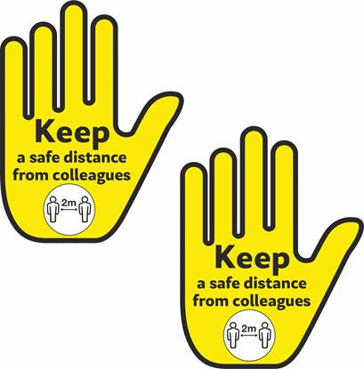 Picture of keep a safe distance from colleagues Decals / Stickers