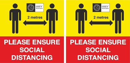 Picture of Please ensure social distancing Decals / Stickers