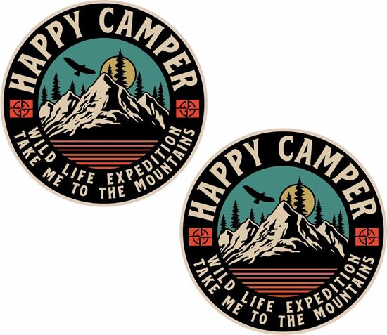 Picture of Happy Camper Decals / Stickers