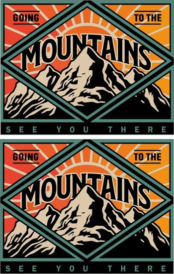 Picture of Going to the mountains see you there Decals / Stickers