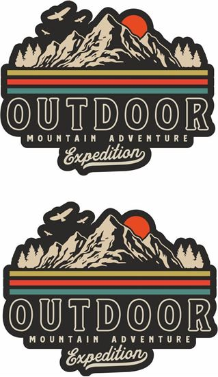 Picture of Outdoor mountain adventure expedition Decals / Stickers