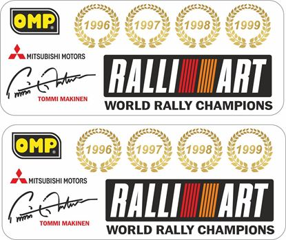 Picture of Mitsubishi Evolution 6 Tommi Makinen Decals / Stickers