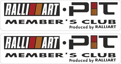 Picture of Ralliart Pit member's club Decals / Stickers